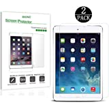 RKINC for Ipad 9.7 2017 2018 Screen Protector, [2 Pack] Crystal Clear Tempered Glass Screen Protector [9H Hardness][2.5D Edge][0.33mm Thickness][Scratch Resist] for Apple Ipad 9.7 2017 2018