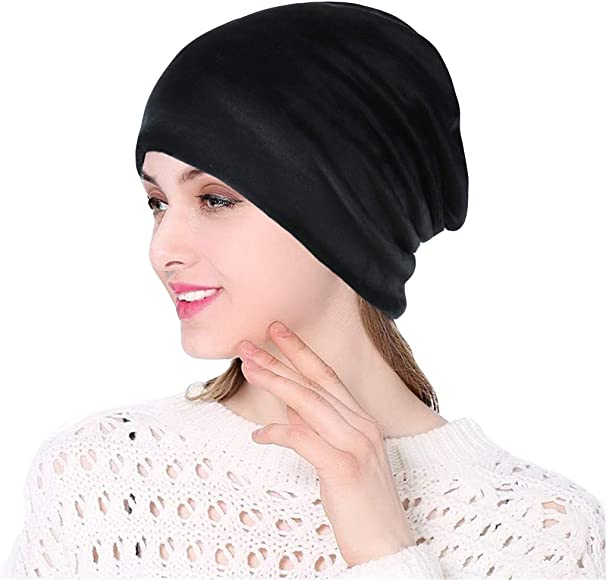 Tronet Muslim Turbans for Womens Striped Thin Section Thin Section Bib Month Hat