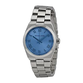 d018d161d771 Michael Kors Womens Channing MK5990 Blue Dial Silver-Tone Stainless Steel  Watch  Amazon.co.uk  Watches