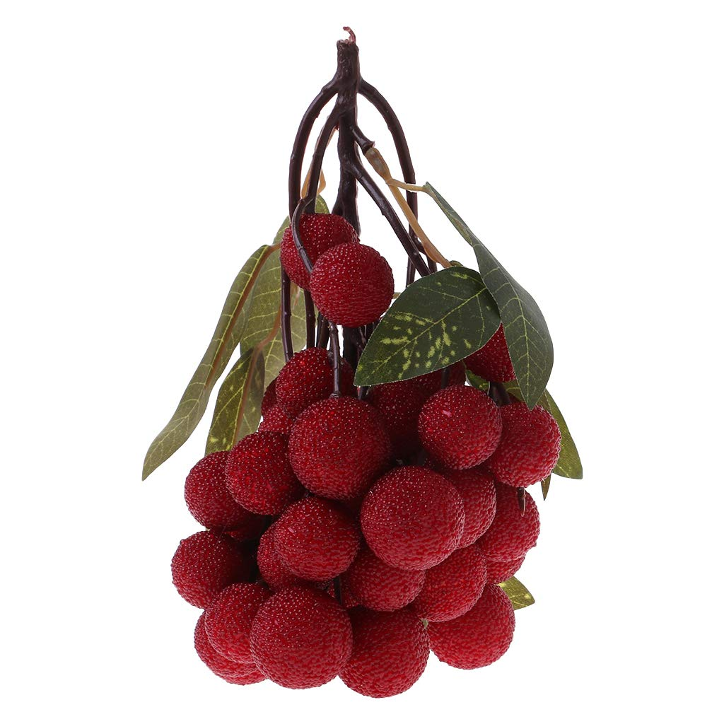 Sample9 Bunch Lifelike Plastic Fake Fruit Skewers, Real Looking Artificial Fruit - Fake Fruits Display Home Party Decoration (Blueberry)