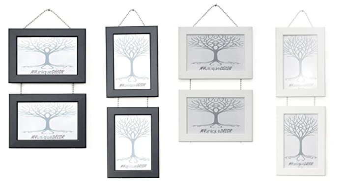 Double Wall Hanging Picture Photo Frames With Metal Chrome Chain