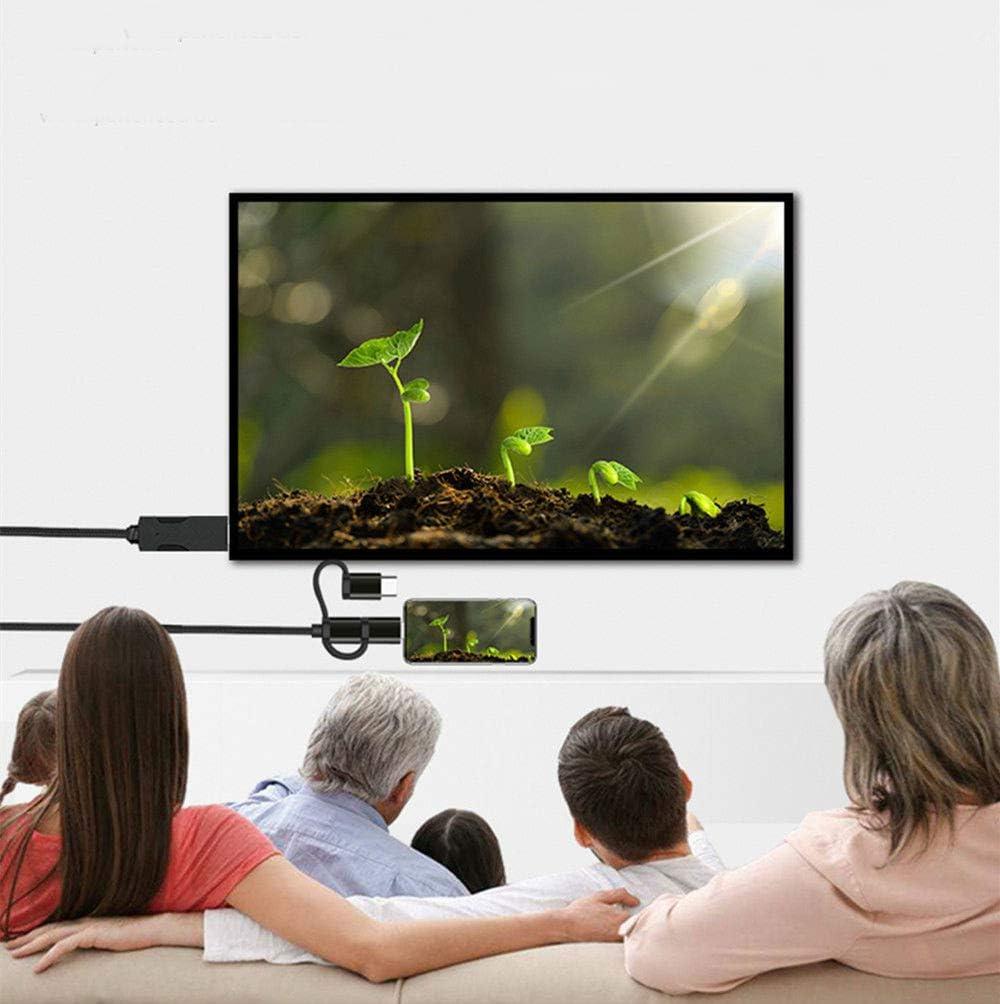 3 en 1 Micro USB/Type C to HDMI Cable, MiraScreen 4K Video HDTV Cable Conversión Adaptador Reflejo de Pantalla para iOS/Android, Soporte de la aplicación Google Home: Amazon.es: Electrónica