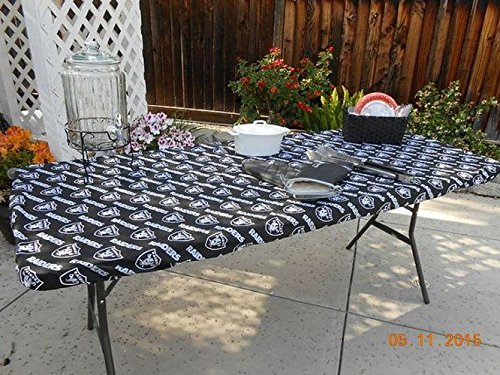 Reusable Stay Put, Fitted Tablecloth for your Football Parties, Tailgating & BBQ's. Can make for any NFL or Collegiate Football Team. Message me for details. by Premier Table Covers