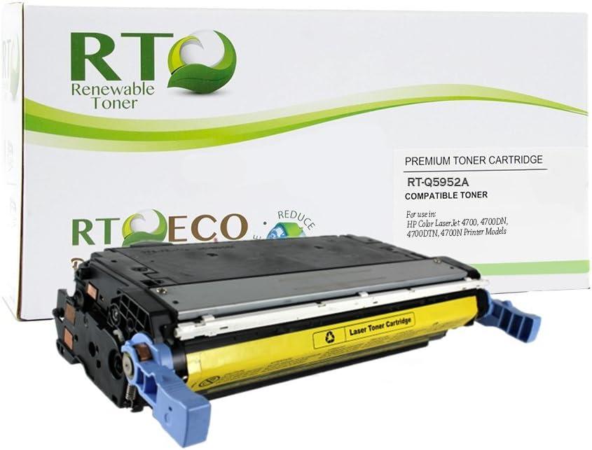 Renewable Toner Compatible Toner Cartridge Replacement for HP 643A Q5952A Color Laserjet 4700 (Yellow)