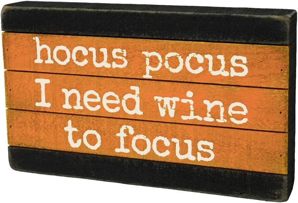 Primitives by Kathy 35806 Slat Wood Box Sign, Hocus Pocus