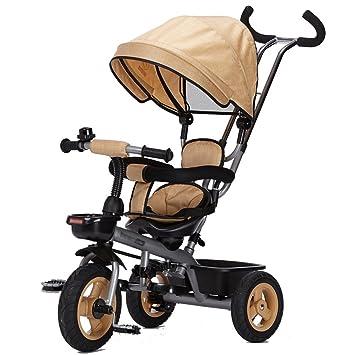 QWM-Las bicicletas infantiles para bebés Triciclo Carrito de bebé Coche de juguete infantil Titanio