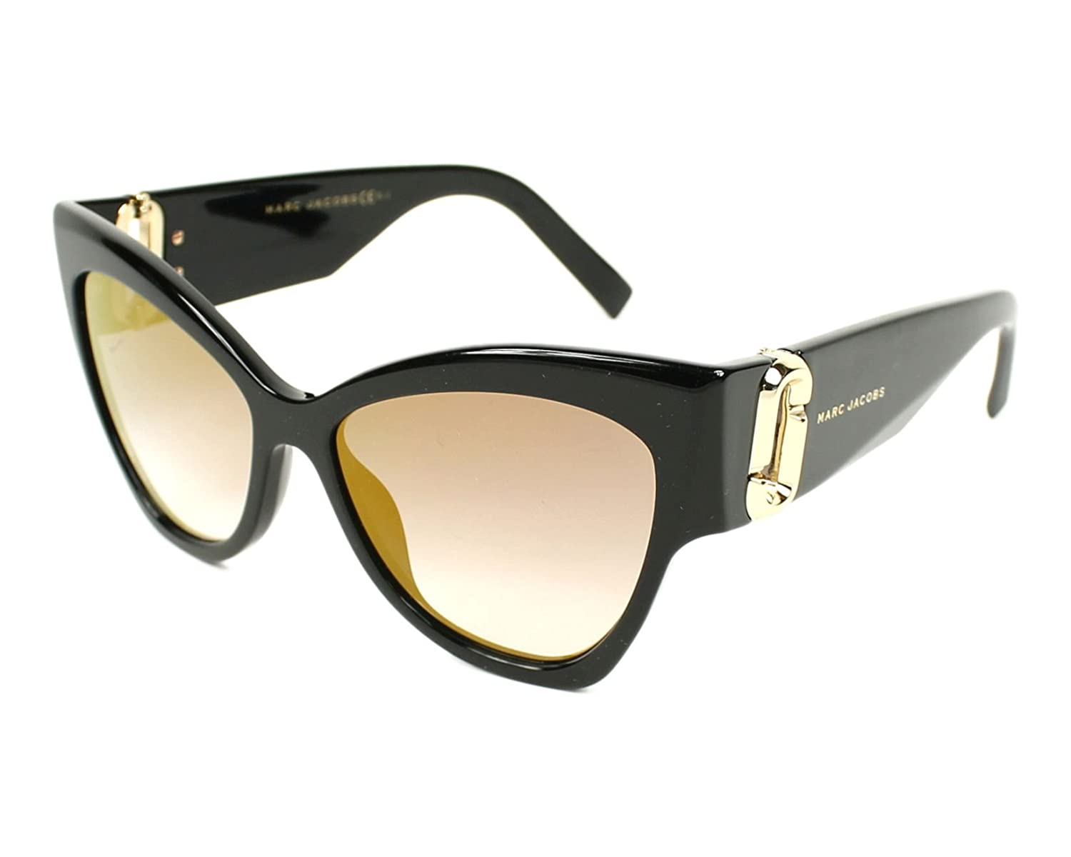 Marc Jacobs Women's Marc109s Cateye Sunglasses, Black/Gray SF Gold SP, 54 mm