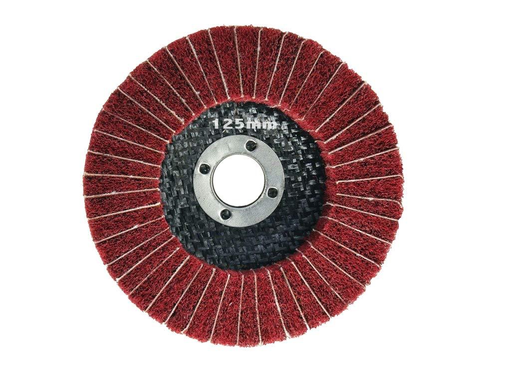 K 120 Poliervlies in K/örnung 400 kombiniert mit Schleifpapier - ROT. F/ächerschleifer 125mm f/ür Winkelschleifer