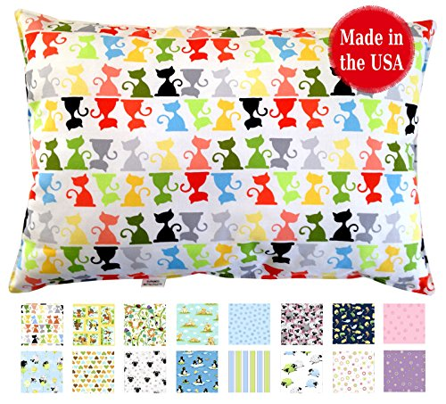 Find Discount Printed Toddler Pillow (13 x 18) No Pillowcase Needed - Hypoallergenic - Machine Was...