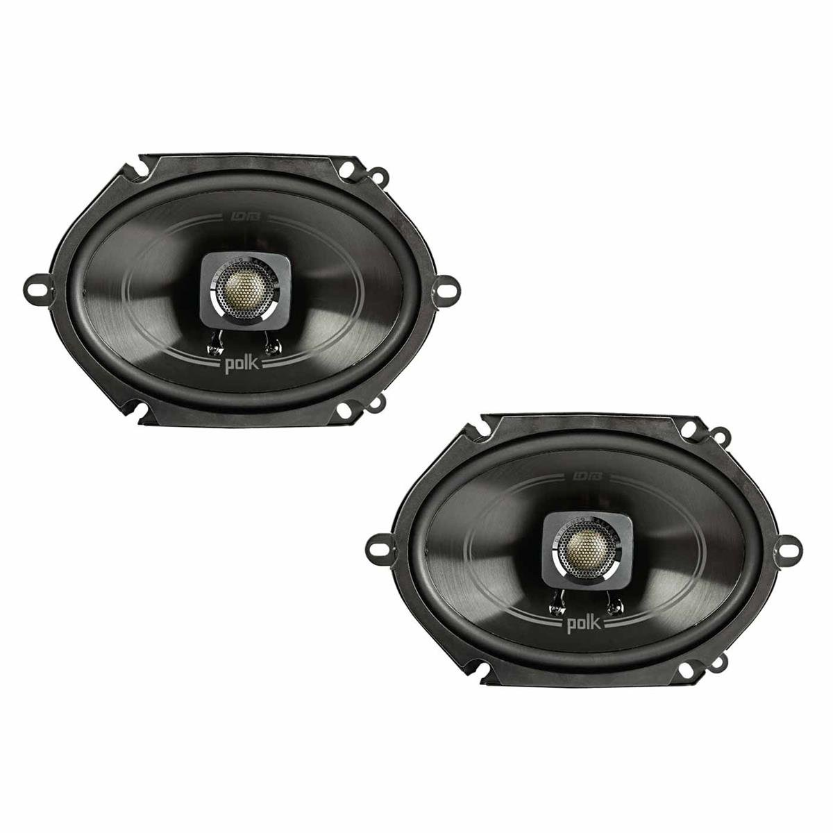 Polk Audio DB572 DB+ Series 5''x7'' Coaxial Speakers with Marine Certification, Black