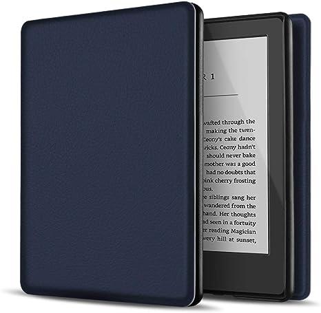 TNP Estuche Nuevo Funda Nuevo para Kindle 10 Generación 2019, Cubierta Ultra Fina y Ligera, Diseño de Sueño Automático, Cierre Magnético, Protección de Caída Golpe Daños Arañazos, Color Azul Oscuro: Amazon.es: Electrónica