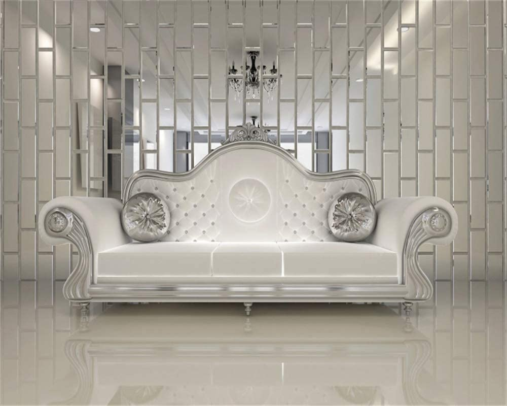 AOFOTO 12x10ft Modern Luxury Apartment Interior Backdrop Classic Hotel Smooth Floor Couch Home Living Room Lounge Silver White Sofa Background for Photography Party Decor Photo Studio Props Vinyl