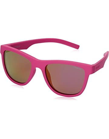 362c263969 Polaroid Kids Wayfarer Sunglasses in Dark Pink Polarised PLD 8018 S CYQ 47