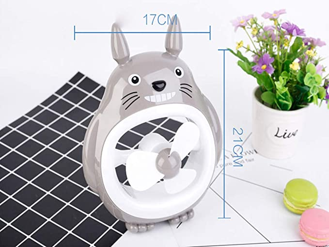 Wghy Dibujos Animados Totoro Mini Recargable USB Pequeño ...