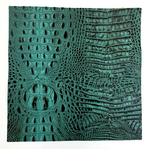 Italian Hornback Crocodile Embossed Cowhide Leather (12