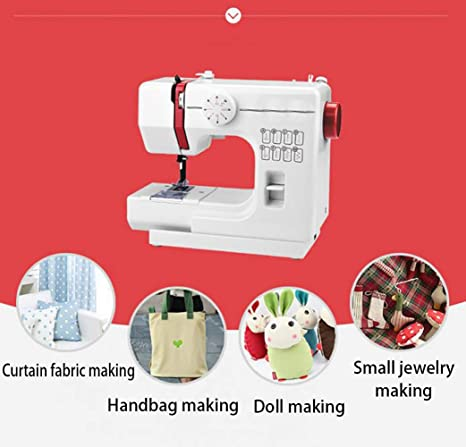 Máquina de coser portátil, 8 puntos de sutura 2 Speed Heavy Duty ...