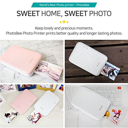 Photobee Portable Wifi Photo Printer - Pink by PHOTOBEE (Image #2)