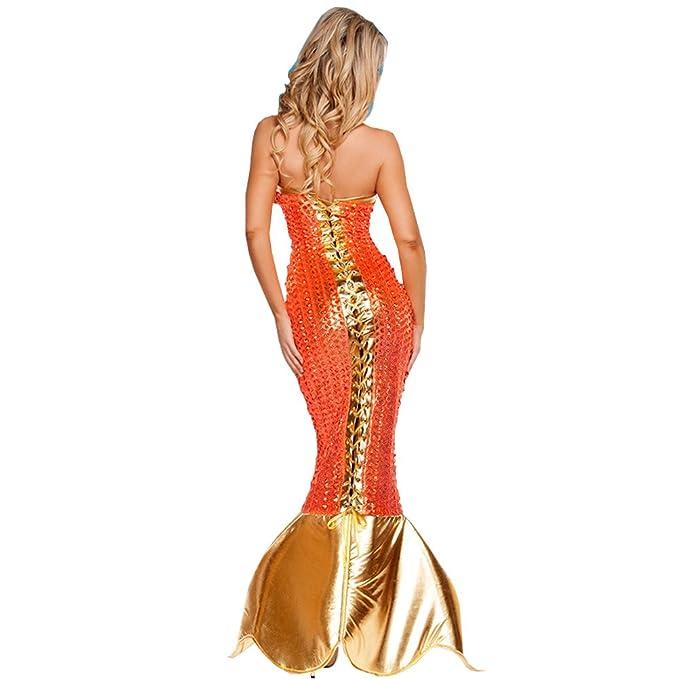 LIYT Women's Halloween Mermaid Dress Cosplay Costume Stage Costume