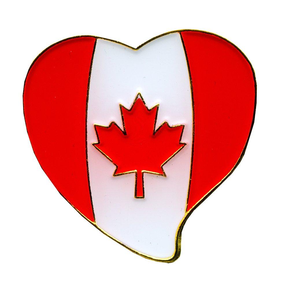 Kanada Herz Canada Heart Montreal Ottawa Symbol Metall Button Pin Anstecker 0706 Import / Hegerring