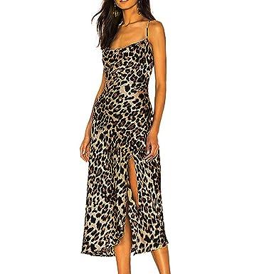 Vestido Sexy de Las señoras Hendidura Sexy Vestidos sin Tirantes ...