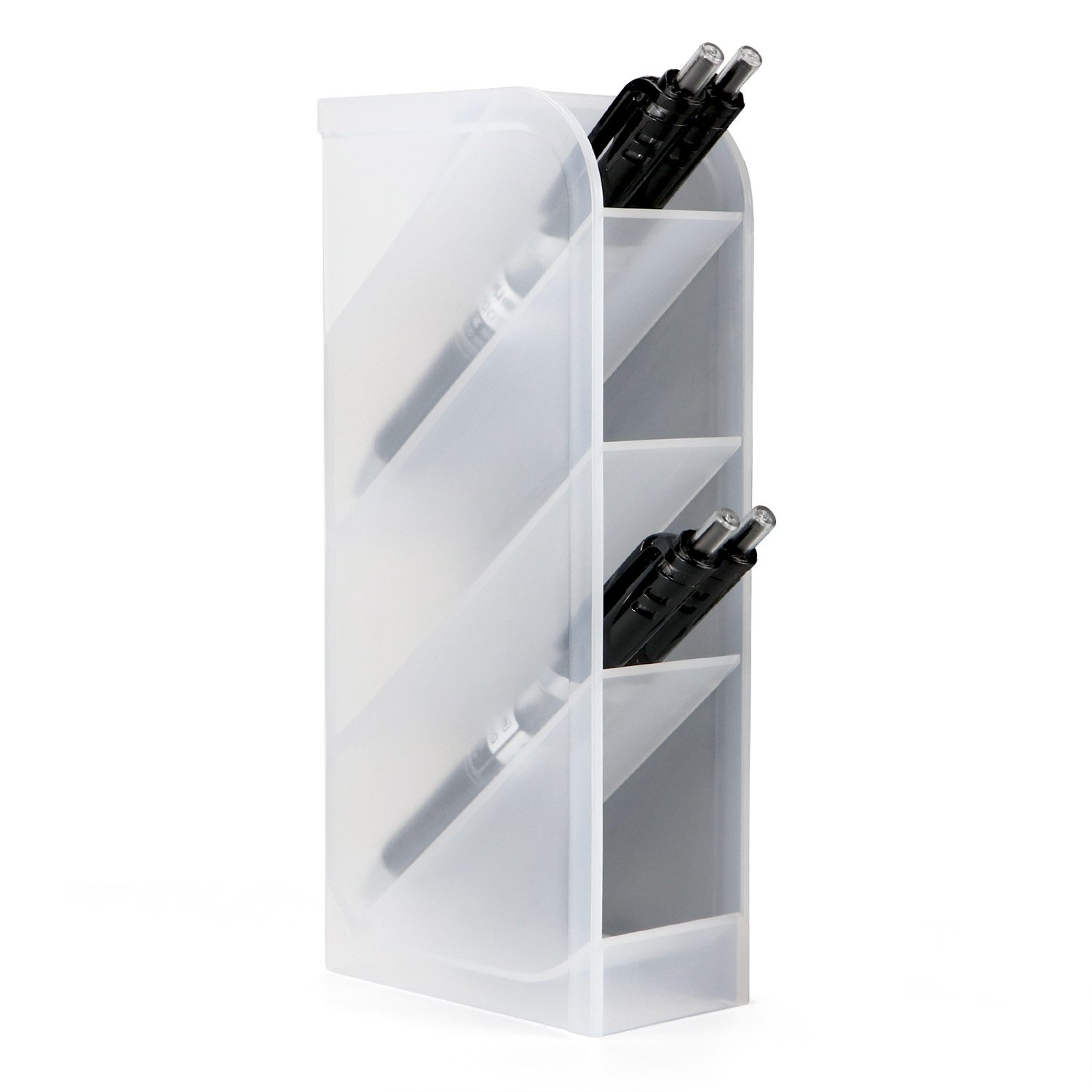 Desk Organizer- Pen Caddy Organizer Storage for Office, School, Home Supplies, Pen Storage Holder (White) HULISEN 0729