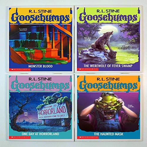 Goosebumps Book Coasters - set of 4 tile coasters - book covers, R L Stine