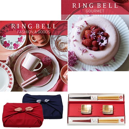 CONCENTリンベル RING BELL カタログギフト ヒアデス&サターン+箔一金箔箸セット B005G21IEE