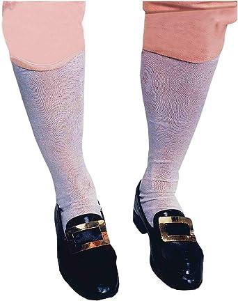 Mens knee high white socks historical fancy dress