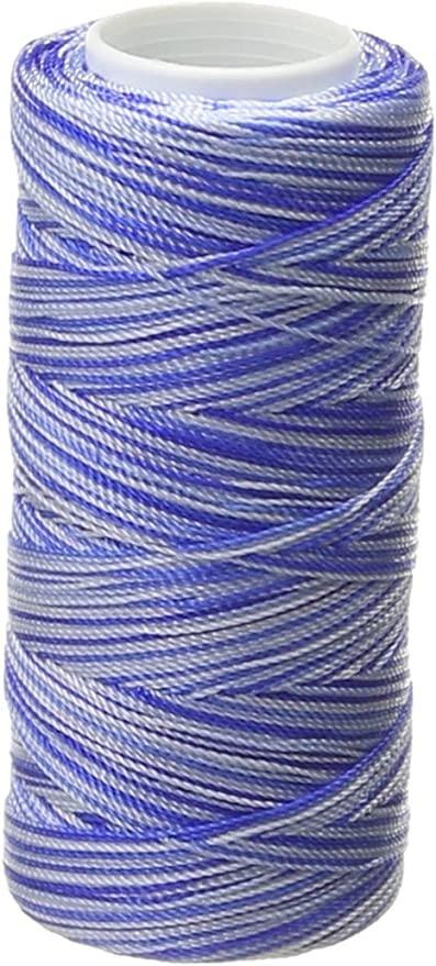 Turquoise Mix Iris 2-491 Nylon Crochet Thread 300-Yard