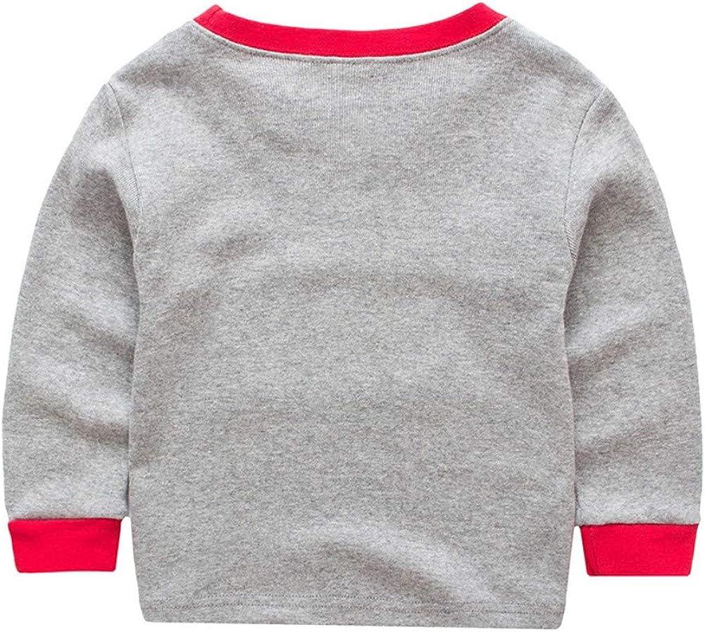 Pantalones 2-7 a/ños Ni/ños peque/ños Ropa de Dormir//Camisones Ropa de casa Miyanuby Pijamas Beb/és Ni/ño Ni/ñas Pijamas Navide/ños de Algod/ón Camiseta de Manga Larga de Pap/á Noel