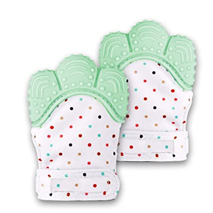 Silicone Baby Teething Mittens Self Soothing Teething Pain Relief Toy Gloves