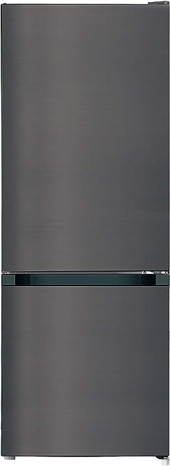 CHiQ réfrigérateur congélateur bas FBM205L42 205L (153+52), low frost, acier inoxydable, portes réversibles, A++, 38 db, 12 ans de garantie sur le compresseur