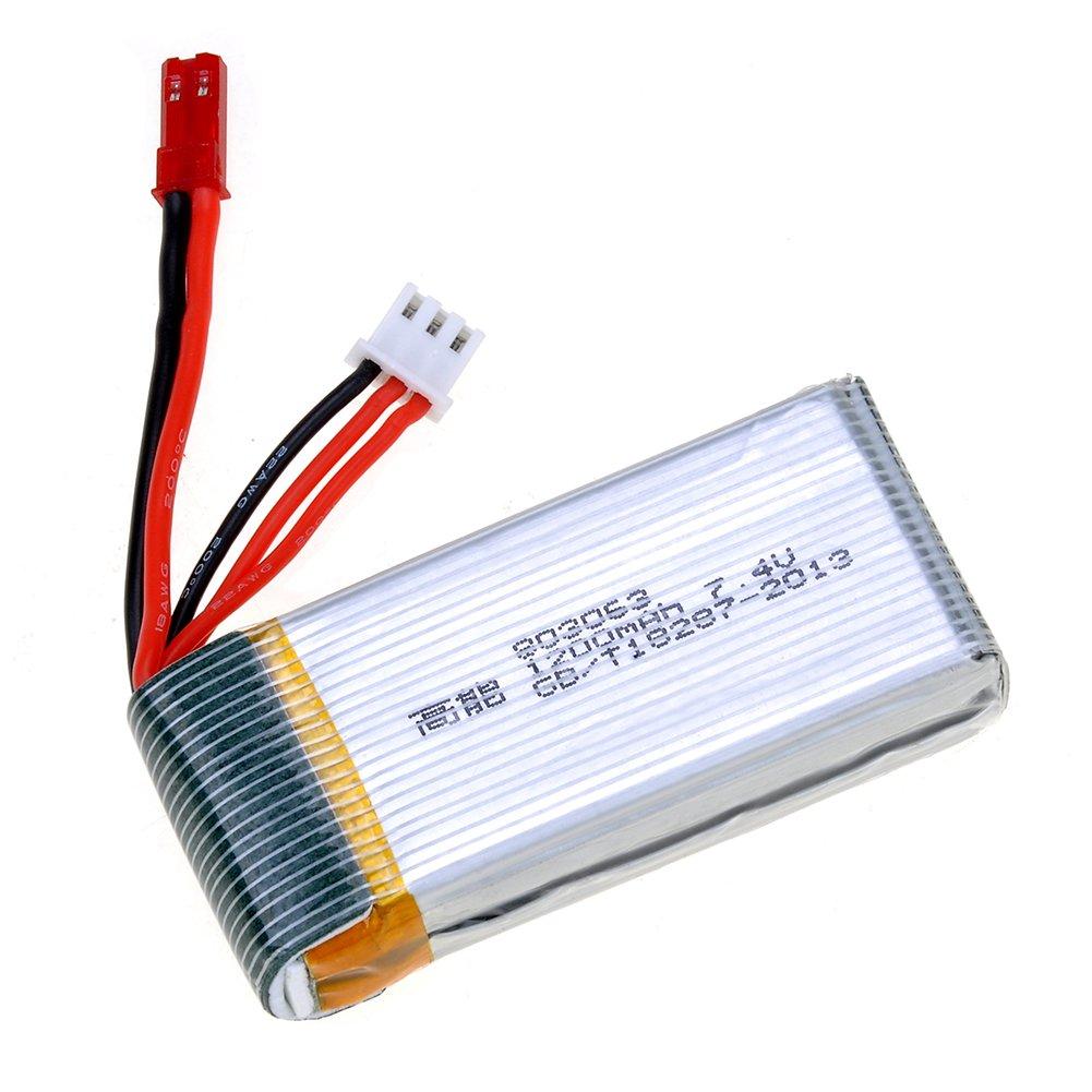 kingtoys® Batería de Litio 7.4V 1200mAh para QuadCopter Dron ...