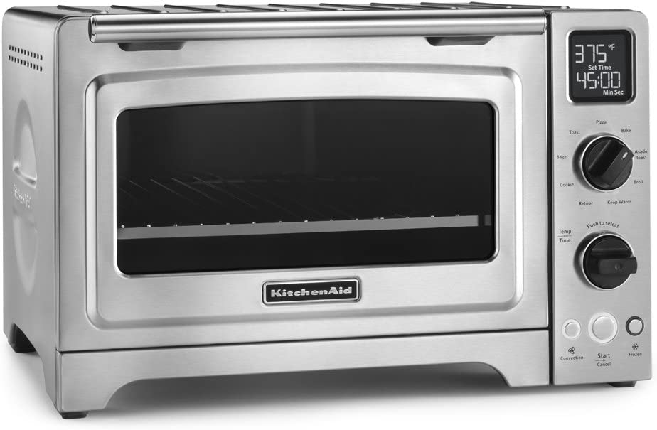 KitchenAid KCO273SS 12 Convection Bake Digital Countertop Oven – Stainless Steel