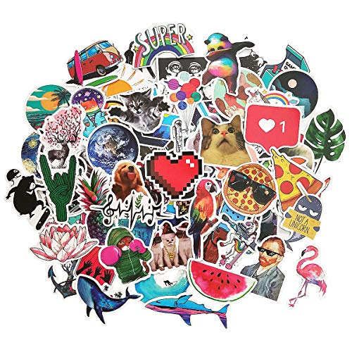 Fashion Sticker Teen Cute Cartoon Waterproof Vinyl Sticker Kettle Computer Notebook Car Skateboard Motorcycle Bicycle Luggage Guitar Graffiti Sticker 100 Pack [No-Duplicate Sticker Pack]