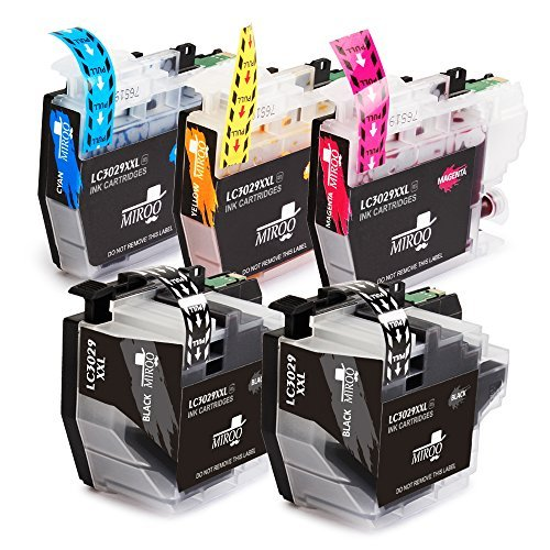 MIROO Replacement Brother LC3029 XXL Ink Cartridge 5 Pack, Work on Brother MFC-J5830DW MFC-J6535DW MFC-J5930DW MFC-J6935DW MFC-J5830DWXL MFC-J6535DWXL Printer (2 Black 1 Cyan 1 Magenta 1 Yellow)