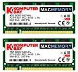 4gb pc2 5300 - Komputerbay MACMEMORY 6GB Kit (4GB + 2GB Modules) PC2-5300 667MHz DDR2 SODIMM for Apple MacBook Pro early 2008 2.1GHz 2.4GHz 2.5GHz 2.6GHz
