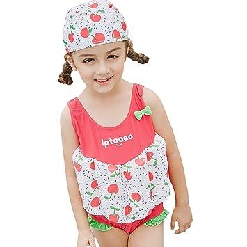 95a3b2cdd250 Gogokids Bébé Fille Flottant Maillot de Bain - Combinaison Flottante et  Bonnets de Bain pour Enfants