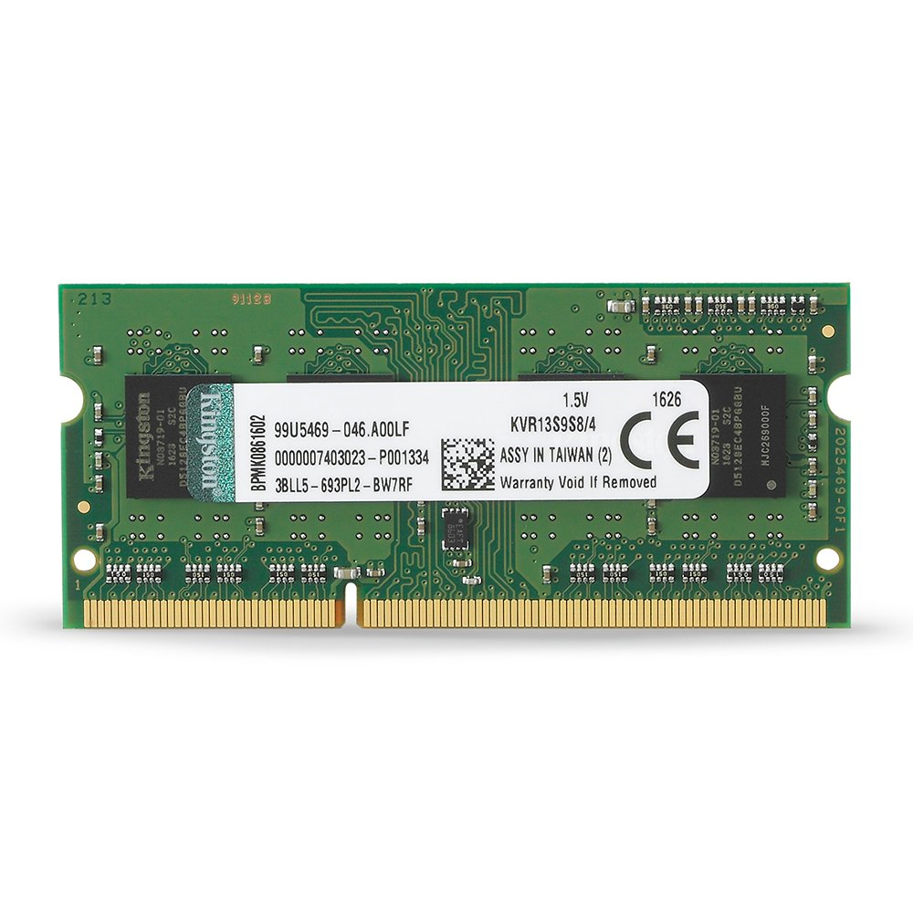 Kingston Value RAM 4GB 1333MHz PC3-10600 DDR3 Non-ECC CL9 SODIMM SR X8 Notebook Memory (KVR13S9S8/4)