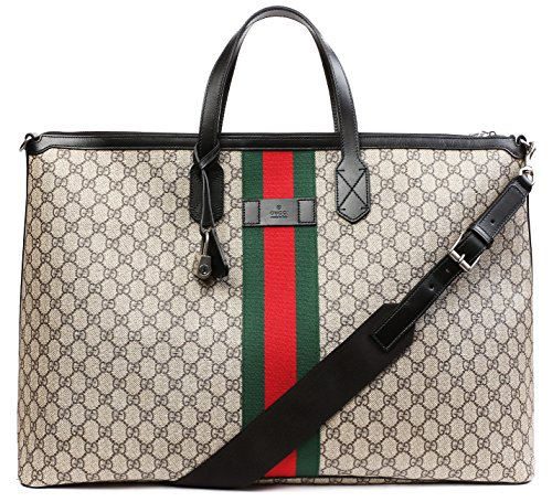 Wiberlux-Gucci-Womens-Logo-Pattern-With-Stripe-Accent-Zip-Top-Tote-Bag