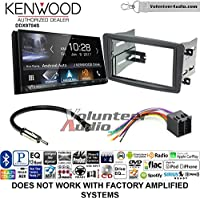 Volunteer Audio Kenwood DDX9704S Double Din Radio Install Kit with Apple Carplay Android Auto Fits 2001-2004 Mercedes C Series