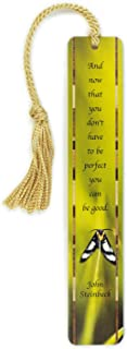 product image for John Steinbeck Inspirational Quote with Color Photograph by Mike DeCesare - Wooden Bookmark with Tassel