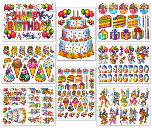 Birthday Window Clings Decals Decorations Kit