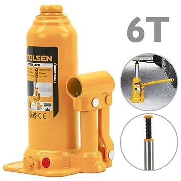 Tolsen - Gato hidráulico de Botella de 6 toneladas: Amazon.es: Electrónica