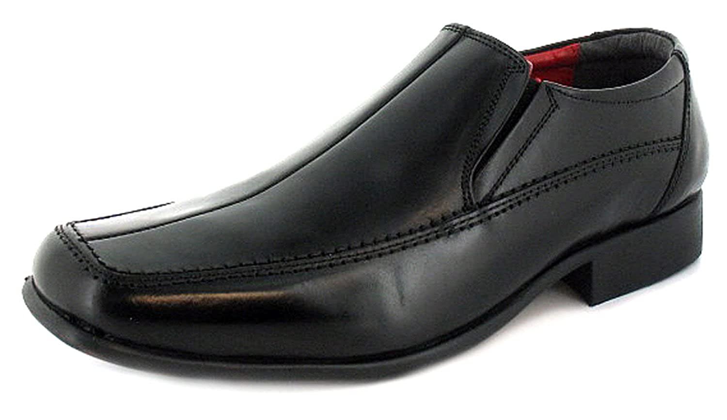 New Mens//Gents Black Slip On Wider Fitting Casual Shoes