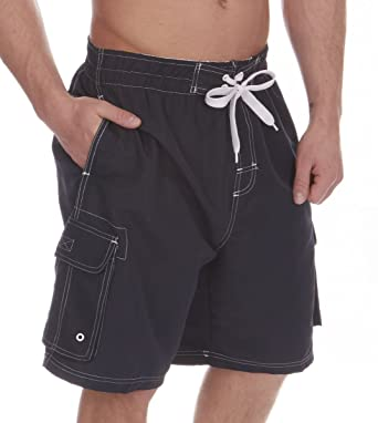 263752ea28 Cargo Bay Mens Swimming Board Shorts Swim Trunks