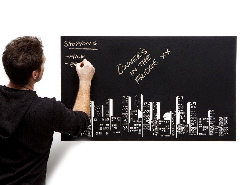 self-stick adesivo lavagna adesivo da parete riutilizzabile Decal Contact Paper con 5gesso colorato per home office Black LY
