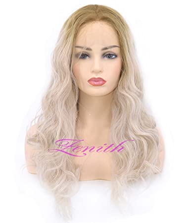 Zenith Summer Design - Wigs for White Women Ombre Light Ash Blonde Lace  Front Wigs Rooted 3c0de3310f