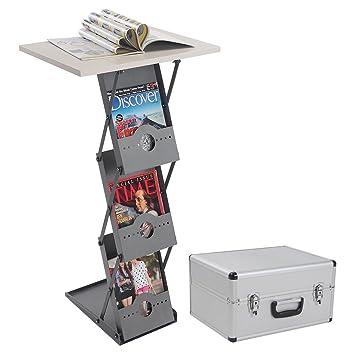 Desktop Podium Literature Rack Popup Folding Brochure Magazine Holder Stand