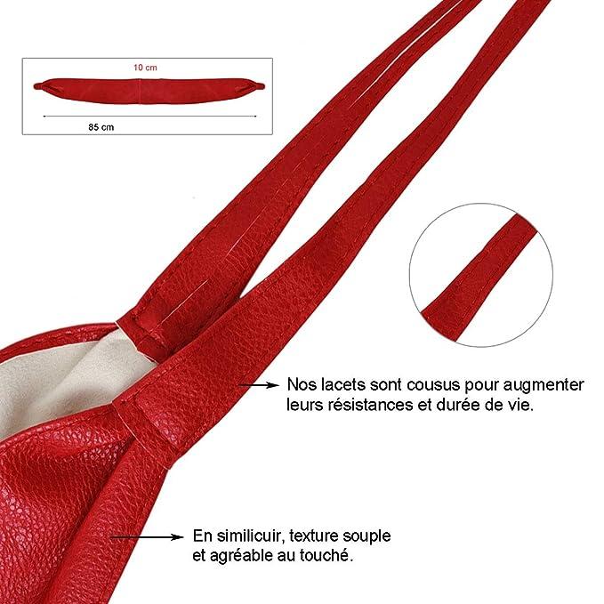 Cintur/ón perforado obi para mujer pelo sint/ético ancho 9cm Talla /única